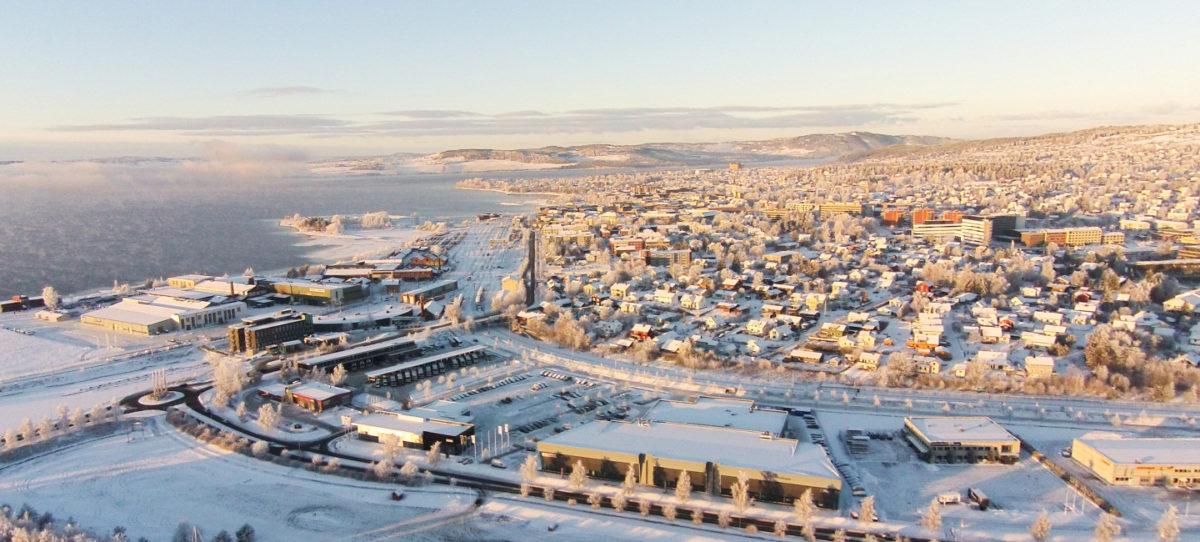 Hamar vinter foto: Skyphoto.no